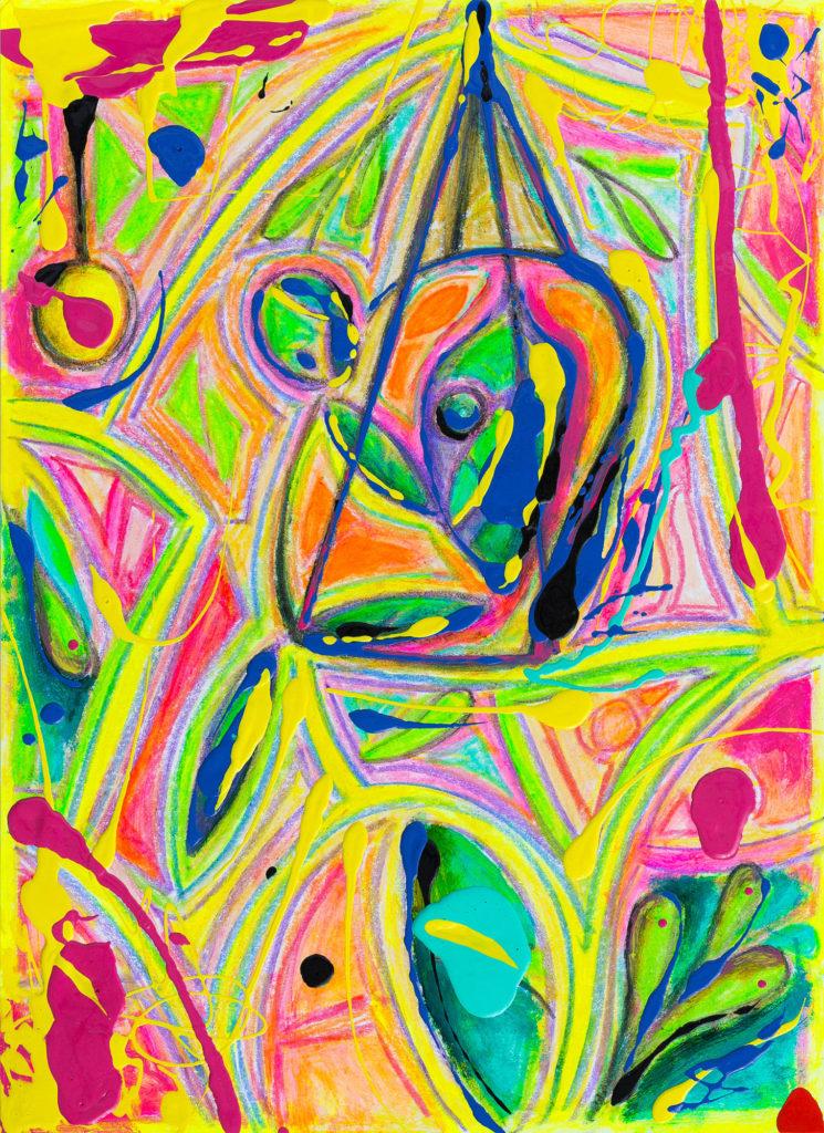 花园里的女人 - 当代艺术家 凯撒·卡塔尼亚 的 当代艺术 画作