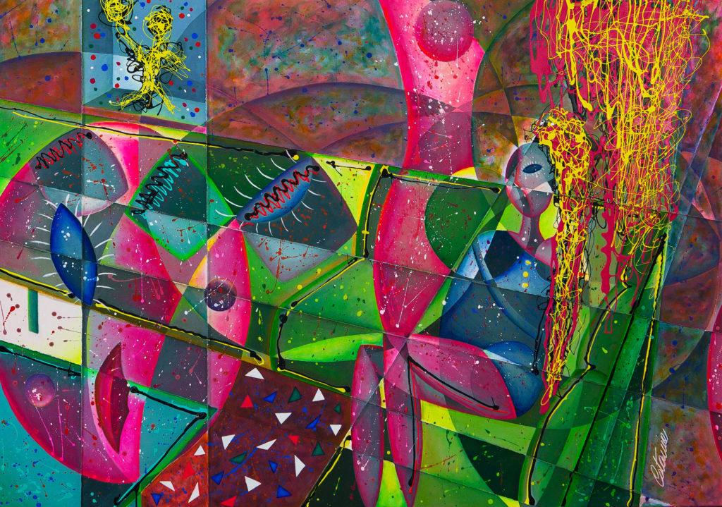 沙发上的女人 - 当代艺术家 凯撒·卡塔尼亚 的 当代艺术 画作