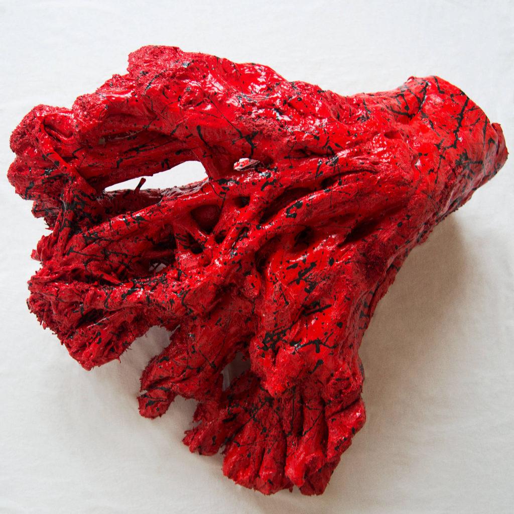 地球的心脏 -艺术家 凯撒·卡塔尼亚 的 当代艺术 雕塑