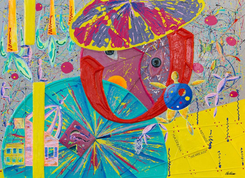 尼斯,尊敬的马蒂斯,夏卡尔 -艺术家 凯撒·卡塔尼亚 的 当代艺术 画作
