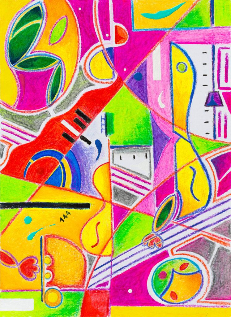 爵士乐三重奏的融合 - 当代艺术家 凯撒·卡塔尼亚 的 当代艺术 画作