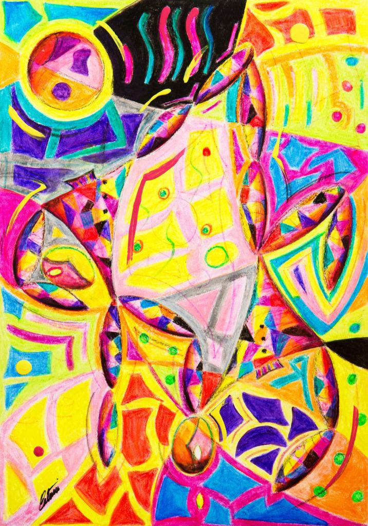 小丑 - 当代艺术家 凯撒·卡塔尼亚 的 当代艺术 画作