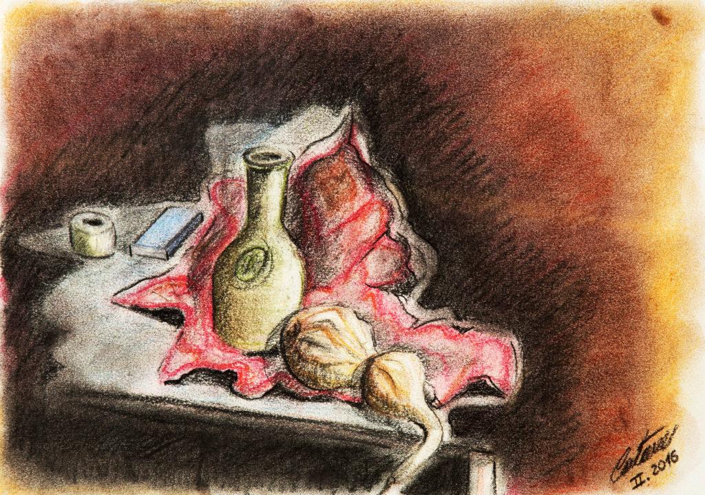 静物 - 当代艺术家 凯撒·卡塔尼亚 的 当代艺术 画作