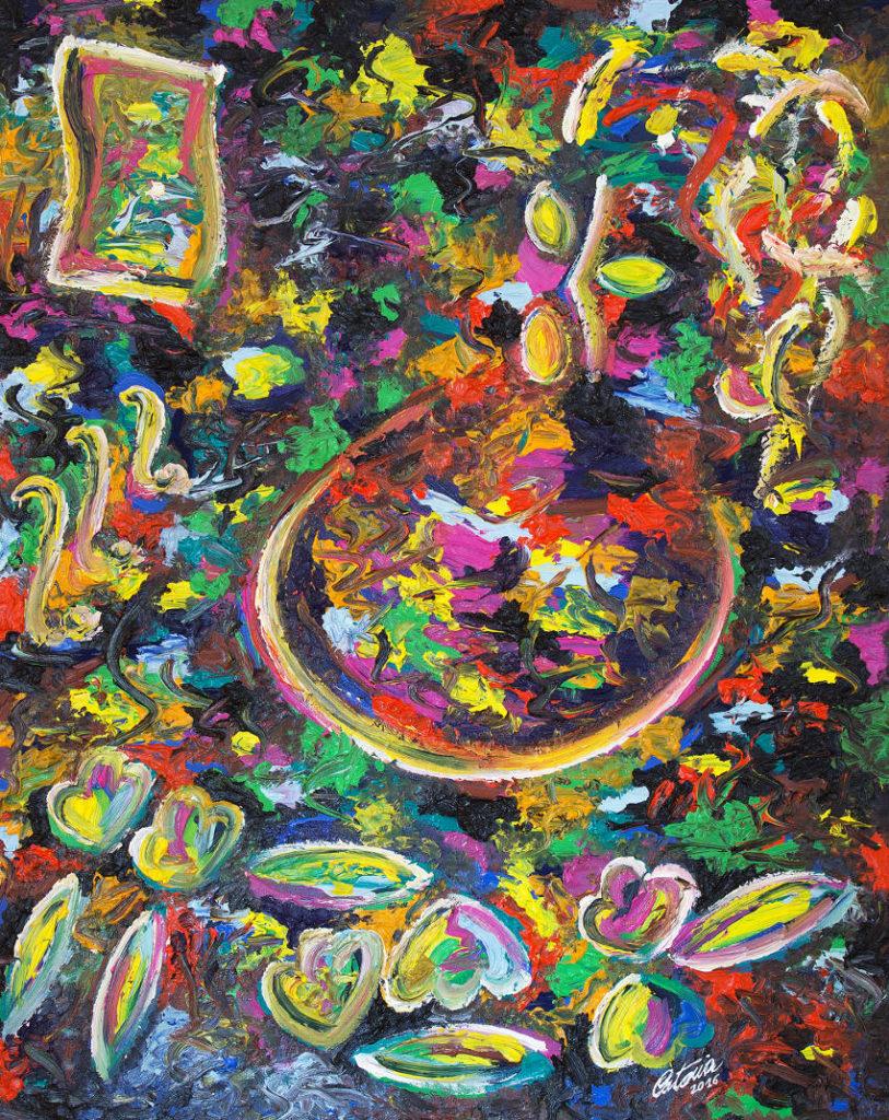 福音 - 当代艺术家 凯撒·卡塔尼亚 的 当代艺术 画作