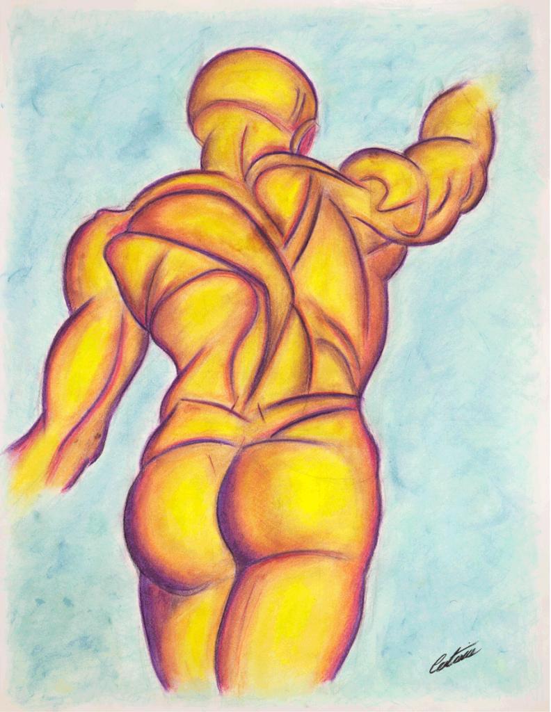 运动动态 B 版本 - 当代艺术家 凯撒·卡塔尼亚 的 当代艺术 画作