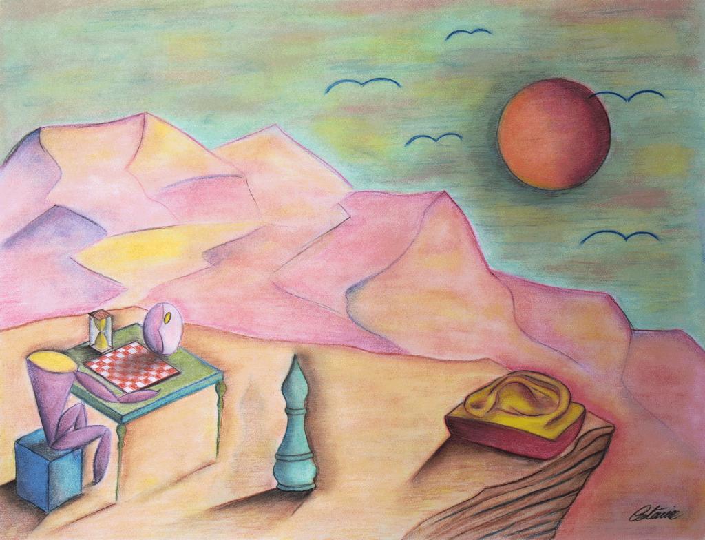 国际象棋 -当代艺术家 凯撒·卡塔尼亚 的 当代艺术 画作