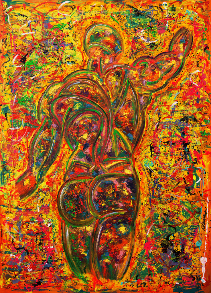 运动动态 C 版 - 当代艺术家 凯撒·卡塔尼亚 的 当代艺术 画作