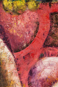 """""""The Embrace"""" is a contemporary art tapestry made by the italian artist, painter and sculptor Cesare Catania"""