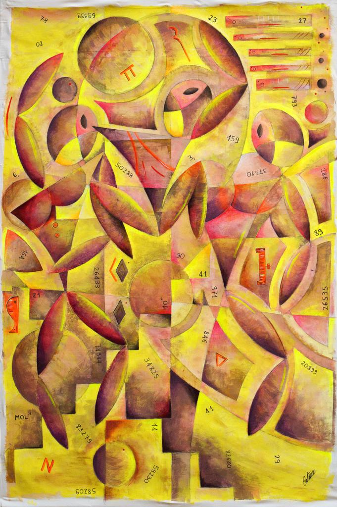 三个男人 - 当代艺术家 凯撒·卡塔尼亚 的 当代艺术 画作