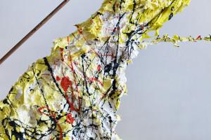 """Découvrez la première sculpture d'art contemporain également conçu aussi pour daltoniens. Titre: """"La Bouche de l'Etna - E Version"""". Sculpteur Cesare Catania"""