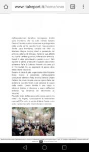 Cesare Catania dona un'opera d'arte all'associazione dei City Angels