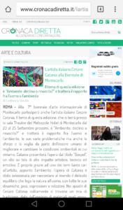 Cesare Catania partecipa alla biennale di Montecarlo 2017