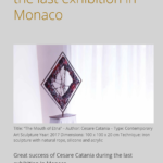 Cesare Catania exhibition in Monaco. The first contemporary artwork for colourblind peolple