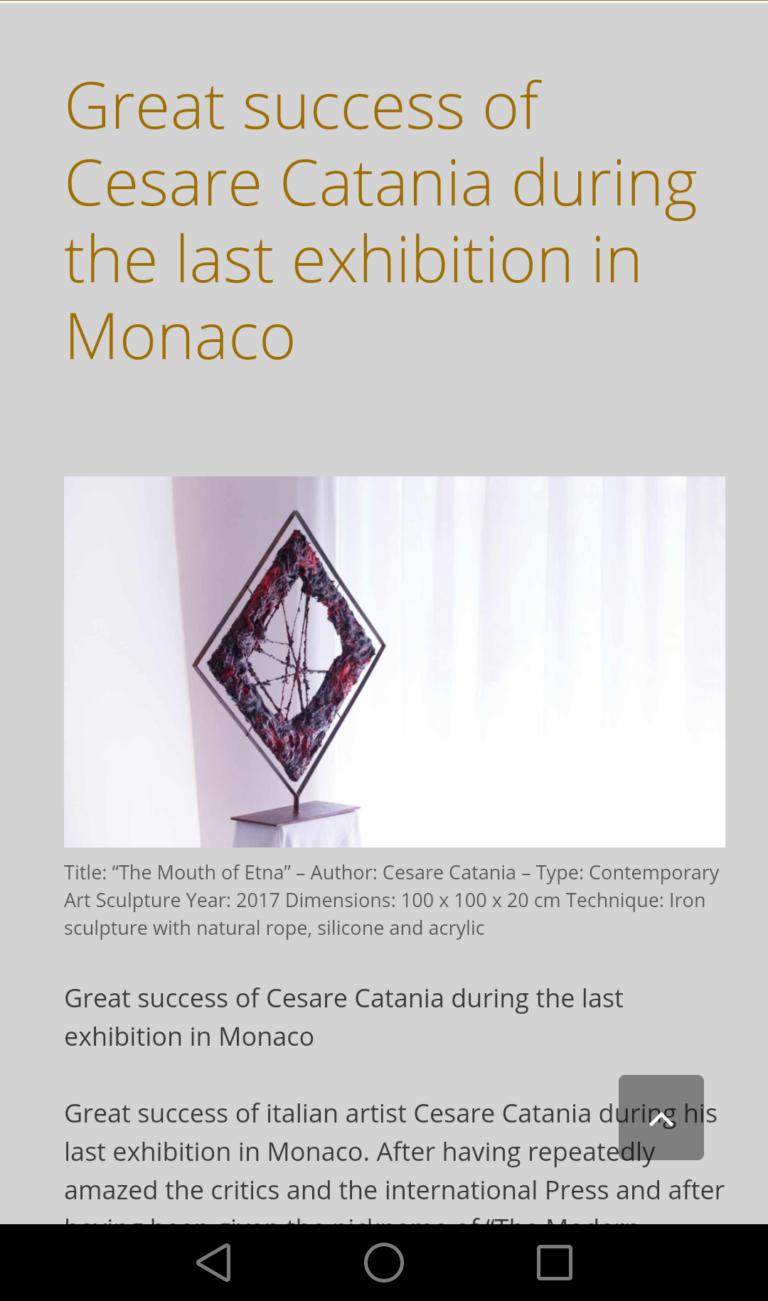 Cesare Catania exhibition in Monaco. The first contemporary artwork for colourblind peolple