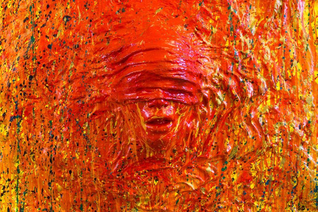 L'uomo che non Vede - dettaglio 1 - Scultura di arte contemporanea dell'artista italiano Cesare Catania