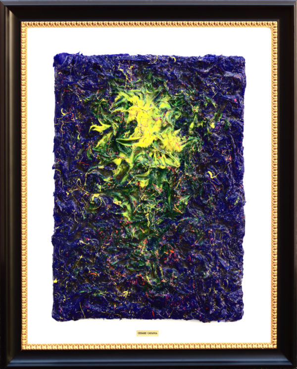 Painting totally covered by diamonds made by the artist Cesare Catania