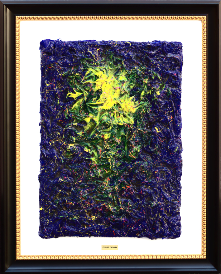 The Cutting (D Version) – Covered with Diamond Dust – 3D Painting – Original (Unique Work)