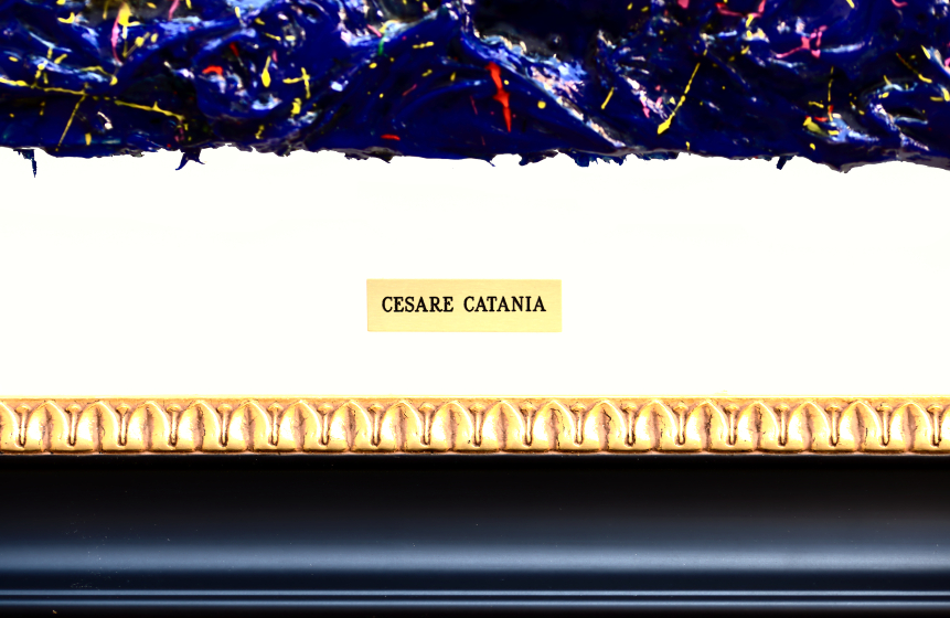 Cesare Catania is the first artist to use real diamonds on his artworks