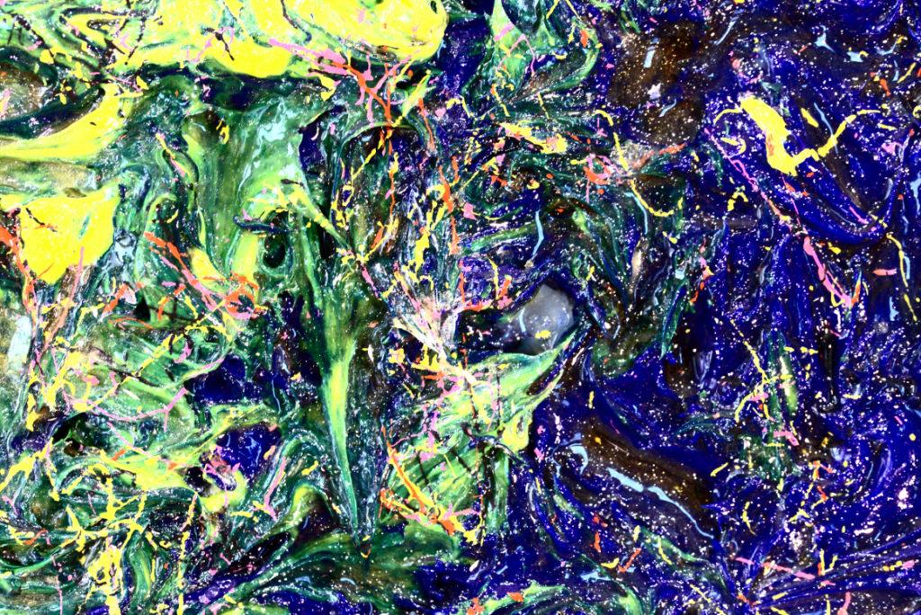 细节:凯撒‧卡塔尼亚(Cesare Catania)的艺术品上的钻石最终涂层