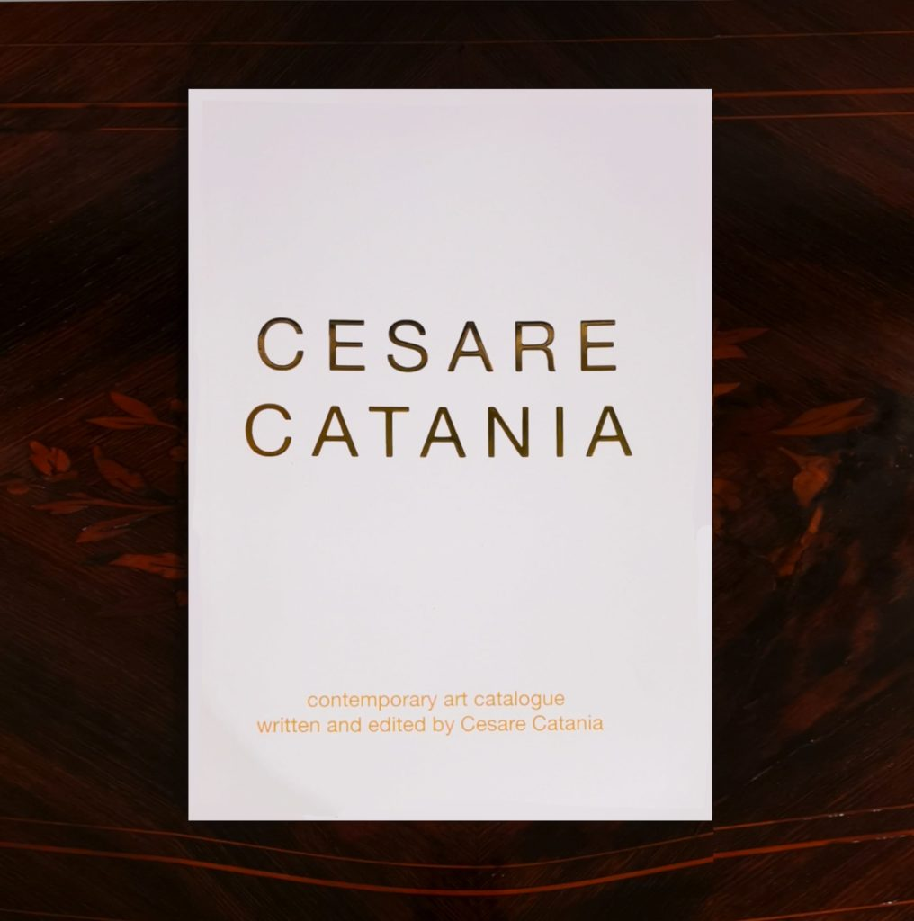 Contemporary Art Book containing the works of Cesare Catania and signed by the Author